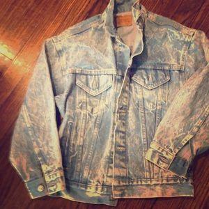 Levi's light wash vintage denim jeans jacket